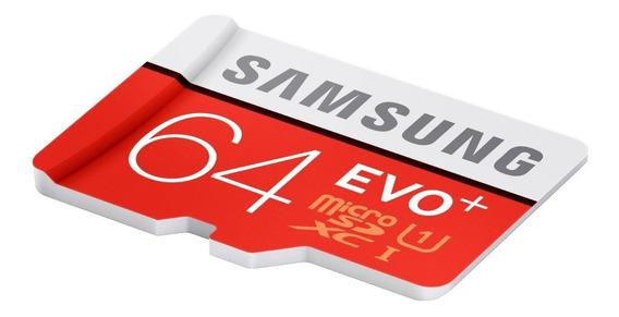 Cartão De Memória Samsung Evo Plus Microsdxc Uhs-i 64gb