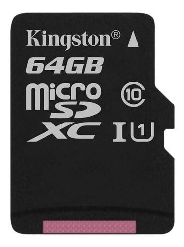 Imagen 1 de 4 de Tarjeta de memoria Kingston SDCS  Canvas Select con adaptador SD 64GB