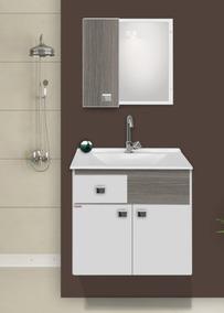 Gabinete Para Banheiro Kit Pop Suspenso + Cuba + Espelheira