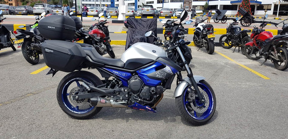 Hermosa Yamaha Xj6n Blue Racing