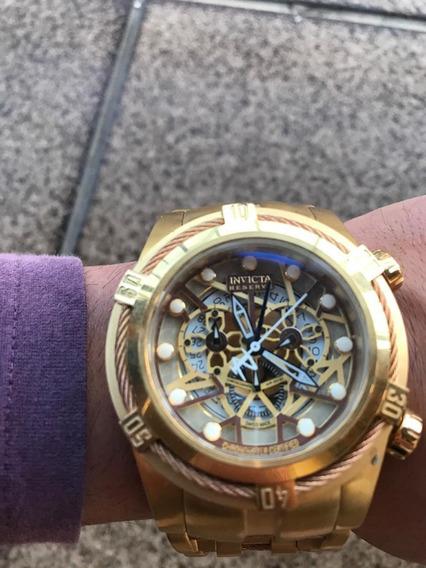 Relógio Invicta 12763 Bolt Zeus Dourado Cronografo Usado