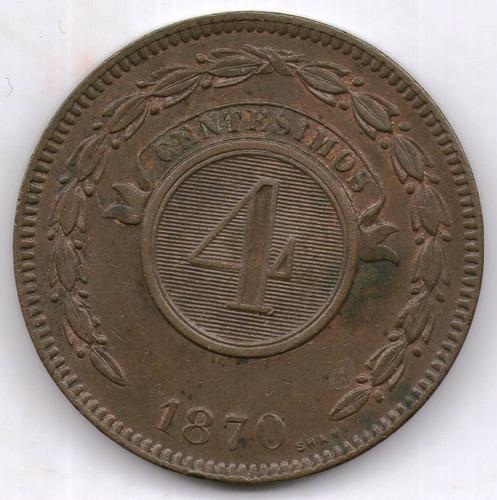 Paraguay Moneda 1870 4 Centesimos Km#4.1 - Argentvs