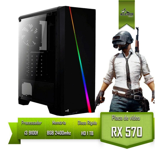 Pc Gamer Alligator Gaming Intel I3 9100f / Rx 570 4gb / 8gb 2400mhz / Hd 1tb