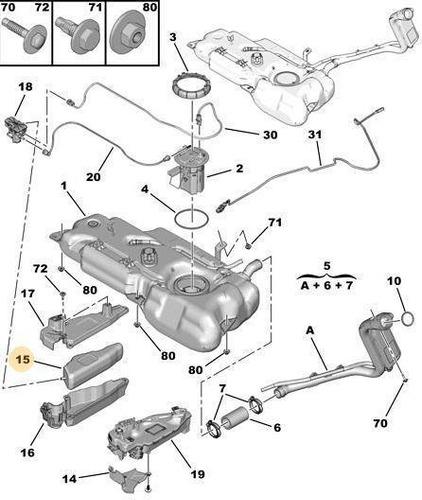 Deposito Adicional Combustible Peugeot 301