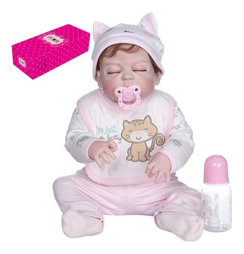 Imagen 1 de 8 de Decdeal - Muñeca De Silicona Para Bebé (55,8 Cm)