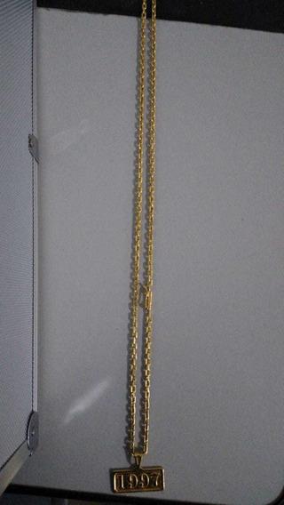 Corrente Banhada A Ouro 18k 70 Cm