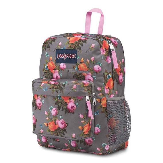 Mochila Jansport Digibreak - Sunrise Bouquet Grey Cinza