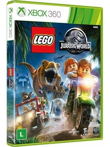 Lego Jurassic World Xbox 360 Dvd Midia Fisica Game Lacrado