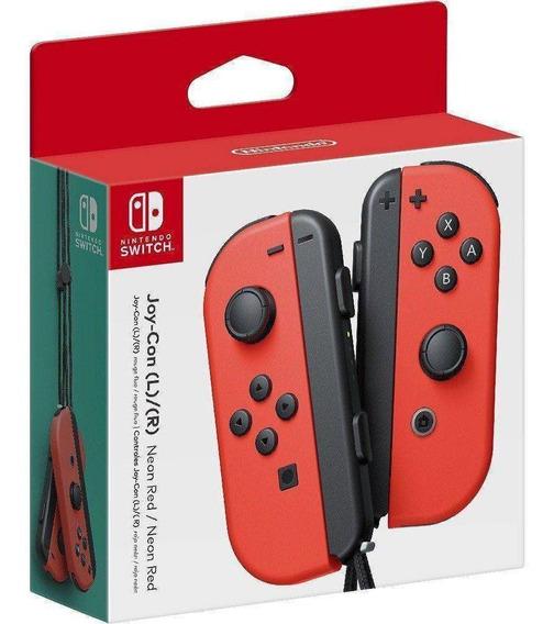 Controle Joy Con Nintendo Switch Par Vermelho - Nintendo
