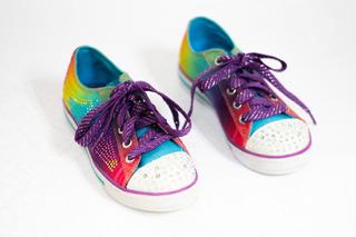 Tenis Skechers Luces Niña #18.5mex Memory Foam, Twinkle Toes