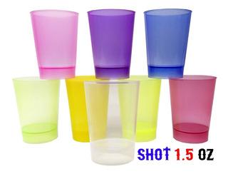 Mini Vaso Shot Plastico Postre 1.5oz Paquete 50 Unidades