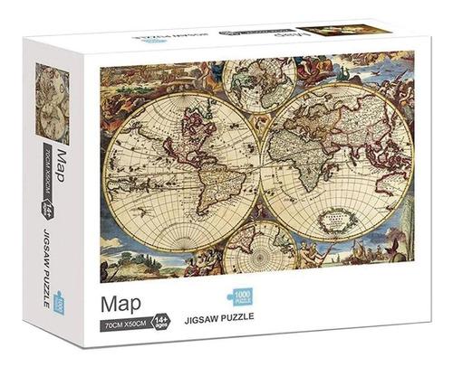 Rompecabezas 1000 Pz Mapamundi Antiguo Puzzle