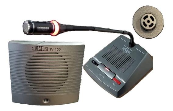 Intercomunicador Ventanilla Caja Banco Blindex Dumont Iv-100