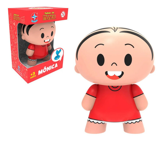 Boneco Toy Art Mônica Turma Da Mônica Estrela Vinil