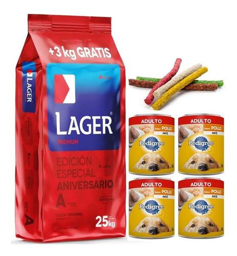 Imagen 1 de 4 de Super Combo Lager Adulto 29k Con 4pate 280g Y Snacks