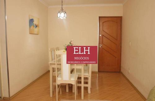 Imagem 1 de 27 de Apartamento Com Sacada, Vista Para Campo De Golf 2 Dormitórios À Venda, 58 M² Por R$ 392.000 - Jardim Marajoara - São Paulo/sp - Ap0046