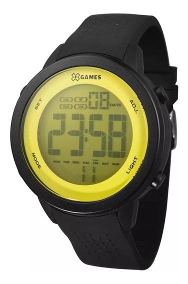 Relógio X-games Masculino Digital Xmppd475 Preto E Amarelo