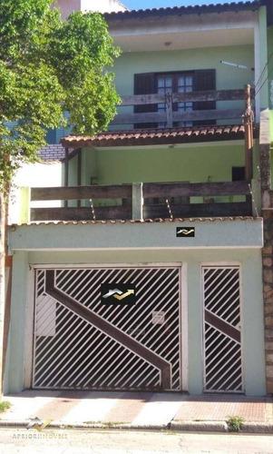 Sobrado Com 3 Dormitórios À Venda, 240 M² Por R$ 450.000 - Parque Gerassi - Santo André/sp - So0953