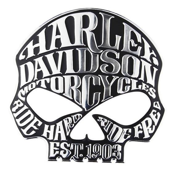 Adesivo Harley Davidson 3d Alto Relevo Tanque Moto Carro