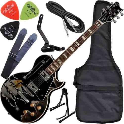 Kit Guitarra Les Paul Cap Wilkinson Golden Gld160 Eagle