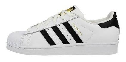 Tenis adidas Superstar Concha Blanco/negro Clasico C77154