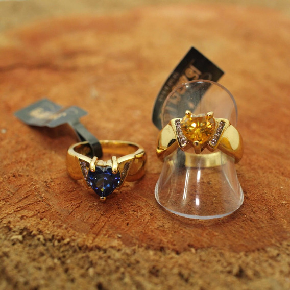 Kit Atacado 10 Anéis Pedras + 10 Correntes Masc+5 Pulseiras