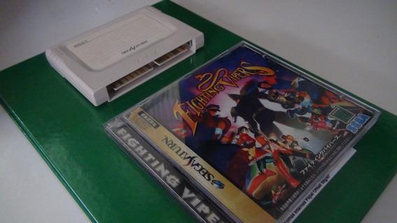 Jogo Sega Saturn - Fighting Vipers + Cartucho De Backup