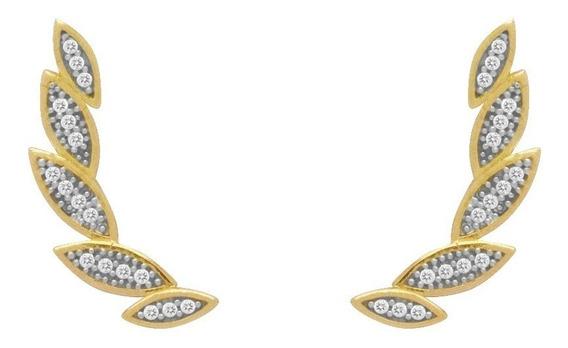 Brinco De Ouro 18k Ear Cuff - Viagold O13