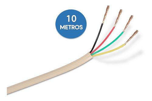 Cable Telefónico Rj11 Plano, Blanco 4 Hilos Venta Por Metros