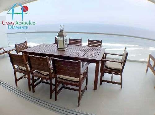 Cad Península Tower C 22. De Playa, Terraza Con Vista Al Mar
