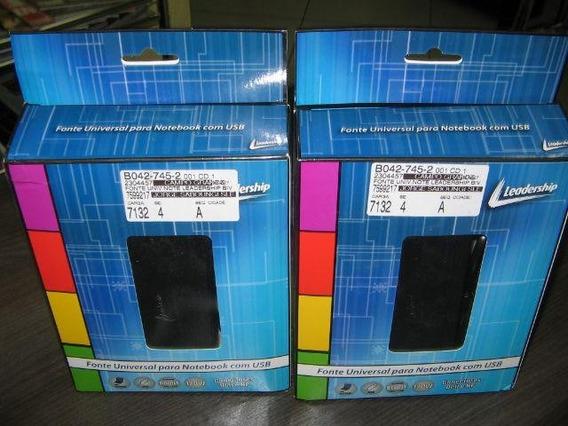 Fonte Carregador Universal Para Notebook Usb E 10 Pinos
