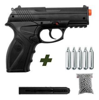 Pistola De Pressão Rossi C11 Esferas De Aço 4,5mm Co2 Airgun