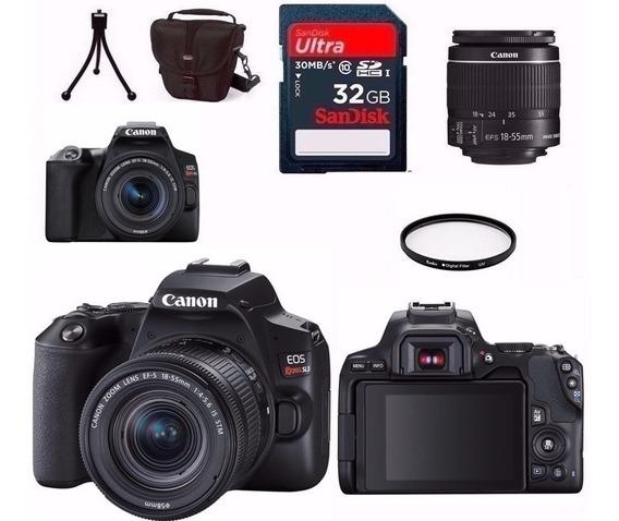 Câmera Canon Sl3+18-55 Is Stm 4k+bolsa+tripé+32gb+filtro Nfe