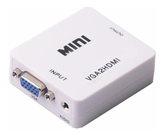 Conversor Vga A Hdmi Con Audio Video Full Hd Tv Notebook Usb