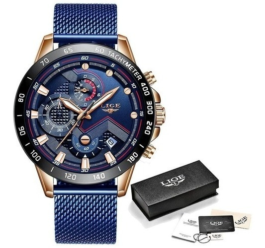 Lige Moda Mens Relógios Top Marca De Luxo Relógio De Pulso