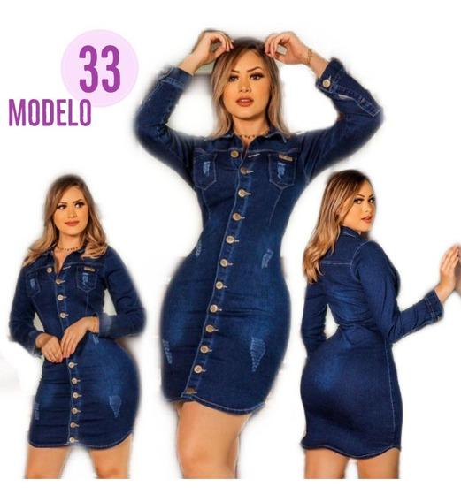 Vestido Jeans Roupas Da Moda Feminina Barata Love Mod. 33