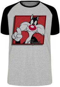 0993bcf6f Camiseta Piu Piu E Frajola - Camisetas Manga Curta no Mercado Livre ...