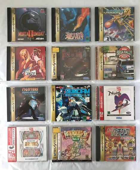 Lote 12 Jogos Sega Saturn Original Japonês