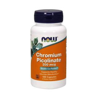 Picolinato De Cromo 200 Mcg 100 Caps Now Foods Original