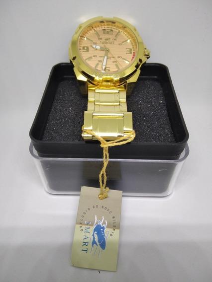 Relógios Masculino Dourado Ou Prata 1 Ano De Garantia
