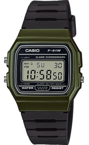 Reloj Casio Vintage F-91wm-3 Wr Agente Oficial Caba