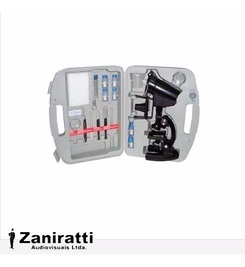 Microscópio Ampliação Até 1200x + Maleta Kit 98 Peças Xsp-2x