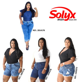 Combo 4 Peças / Kit Com 1 Calça + 3 Shorts Plus Size