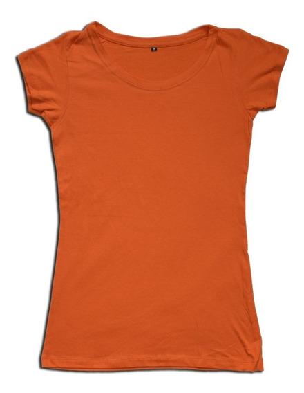 Remera Mujer Lisa Manga Corta 100% Algodón Dama Colores