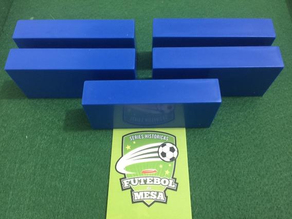 5 Goleiros De Plástico Azuis - Futebol De Mesa