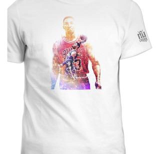 Camisetas Estampada Scottie Pippen Bulls Basketball Ink 2
