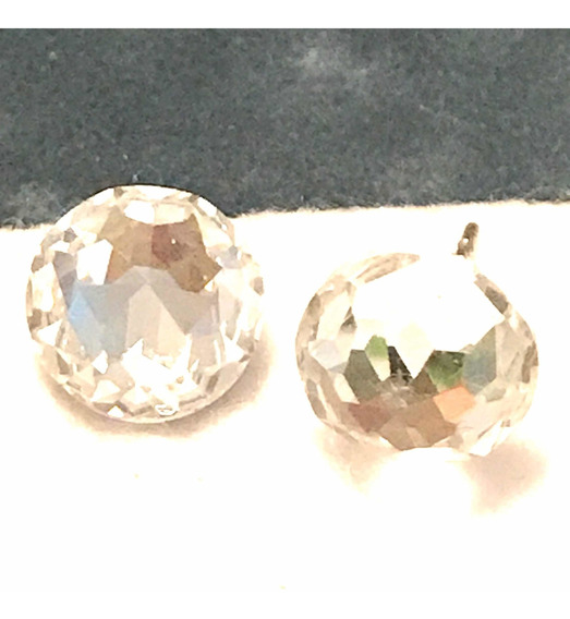 Aro Par Redondo 12 Mm Swarovski Cristal Original Genuino
