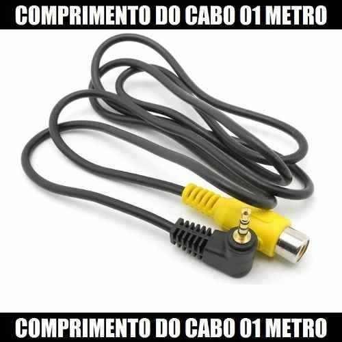 Cabo Gps Para Câmera De Ré P1 Macho Rca Fêmea 01 Metro