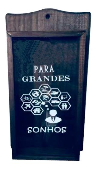 Cofre De Madeira Rústica Decor Vintage - Para Grandes Sonhos