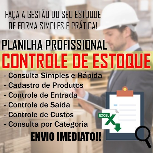 Planilha Inventário P/ Controle De Estoque E Vendas - Excel